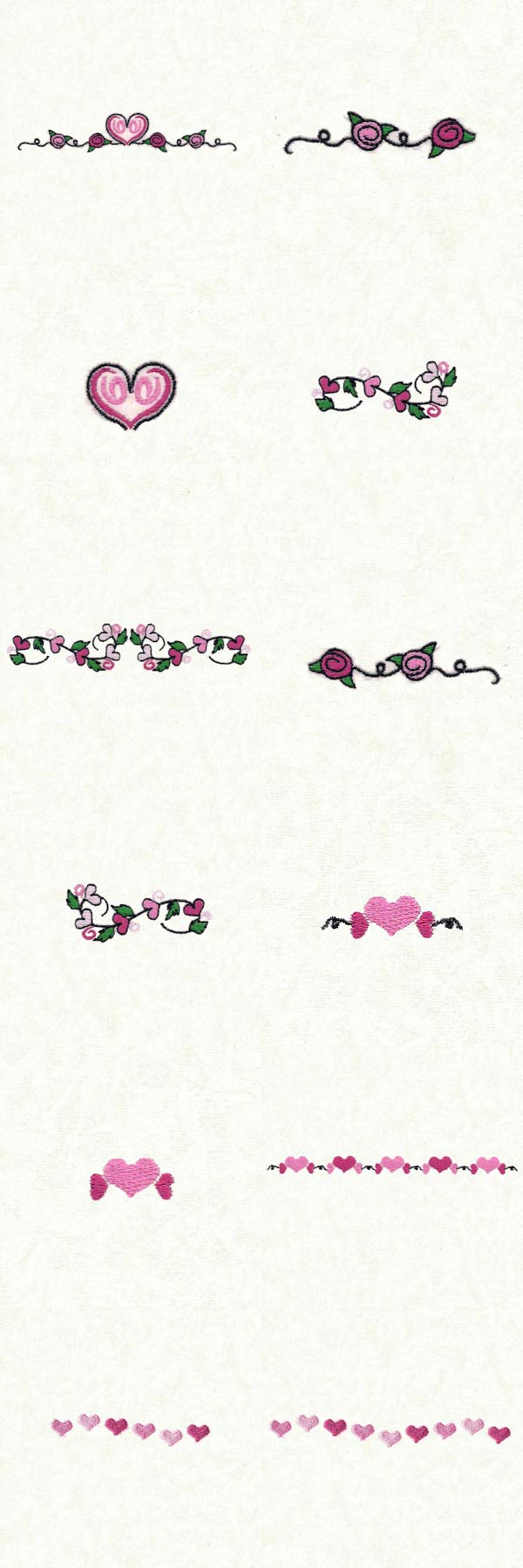 Valentine Border 2 Embroidery Machine Design Details