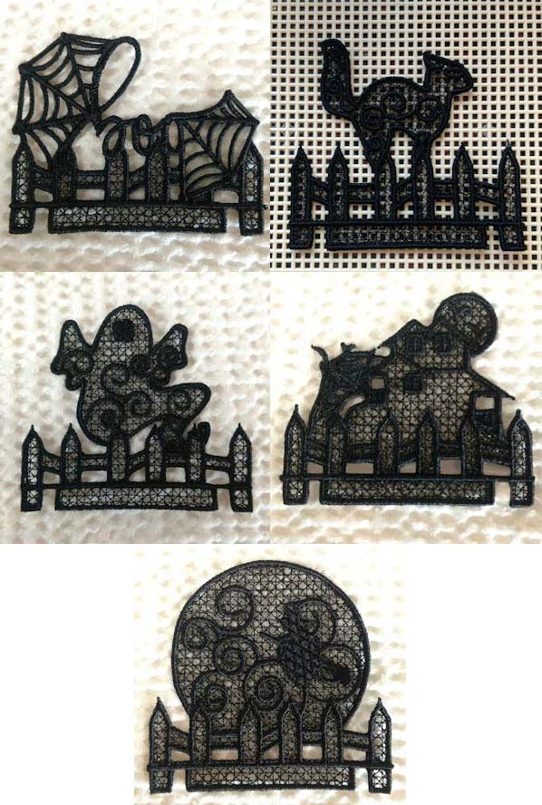 Wicked Halloween Scenes Embroidery Machine Design Details