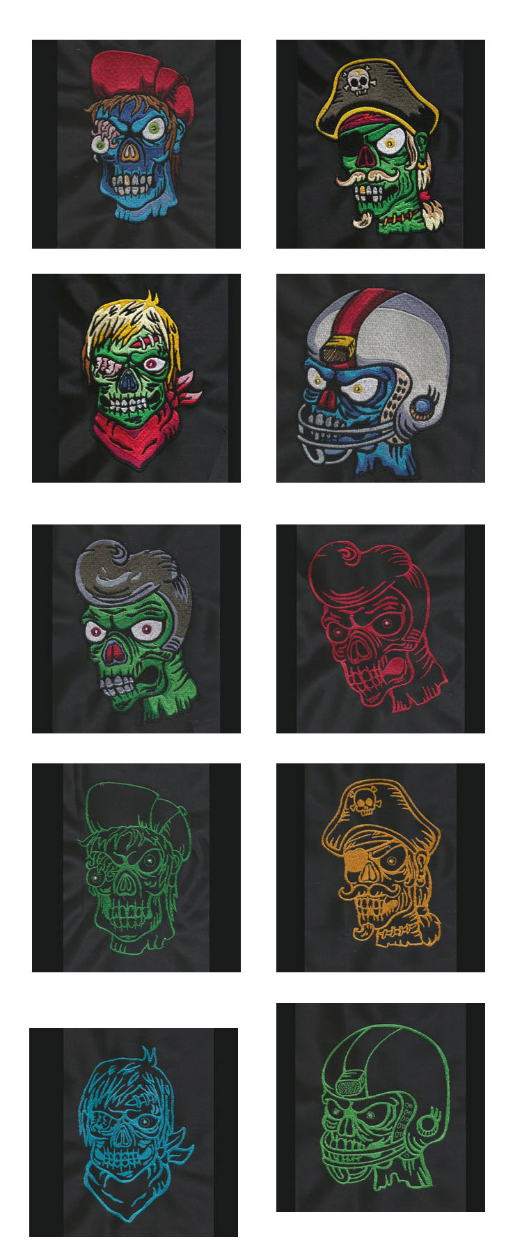 Zombies Embroidery Machine Design Details
